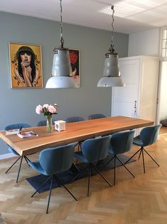 Dining Room Rules: Industrial Dining Room Lighting As The Key Fixture Dining Room Design, Dining Room Table, Mid Century Dining, Dining Room Inspiration, Dining Room Lighting, Home And Living, House Design, Interior Design, Home Decor