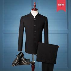 Chinese Coat: Cheap Price 2piece Lates Coat Pant Designs Men Sui... Black Dress Suit Men, Tuxedo Dress, Tuxedo Suit, Tuxedo For Men, Tuxedo Jacket, Dress Suits, Men Dress, Red Tuxedo, Plus Size Blazer