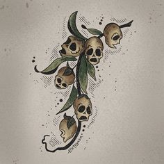 When the petals of a snapdragon flower die, the seed pod left behind looks like a human skull. Spooky Tattoos, Weird Tattoos, Unique Tattoos, Body Art Tattoos, Snapdragon Flowers, Forest Drawing, Sunflower Drawing, Strange Flowers, Esoteric Art