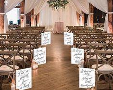 Set of 10 Wedding Aisle Signs 1 Corinthians 13 Wedding Signs | Etsy Wood Wedding Signs, Wedding Welcome Signs, Wedding Signage, Card Box Wedding, Wedding Pics, Wedding Ideas, Wedding Favours, Boho Wedding, Instagram Wedding Sign