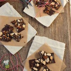 Chocolate Almond Bark : Looking for chocolate treats? Now you can make your own chocolate bark with rich dark chocolate and roasted almonds. This healthy chocolate recipe is perfect to share with your friends.
