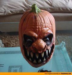 La calabaza más terrorífica de halloween.