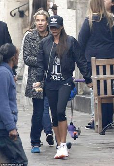 Incognito: Despite being one of the most famous women in the world, the former Spice Girl managed to escape attention in busy Notting Hill
