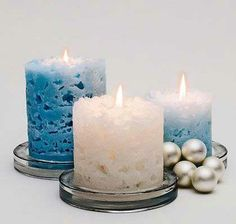 Simple DIY Christmas Gift Ideas - Ice Candles - Click pic for 25 Handmade Christmas Gift Ideas