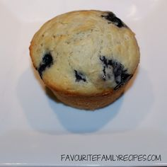 Blueberry Muffin @FavouriteFamilyRecipes
