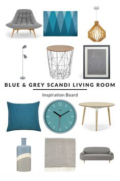 Blue And Grey Scandi Living Room   Furnishfulu0027s Living Room Ideas    Inspiration Boards