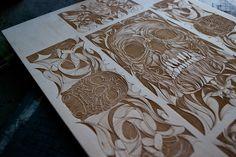 Laser etching + Seldon Hunt design = WOW Got Wood, Laser Cutting, Design Inspiration, Posters, Artwork, Ideas, Work Of Art, Auguste Rodin Artwork, Poster