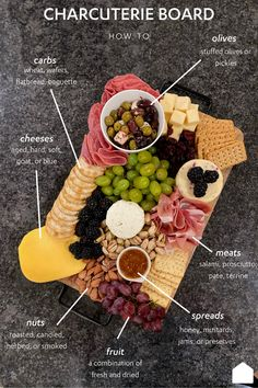 Charcuterie Board Meats, Charcuterie Spread, Charcuterie Recipes, Charcuterie And Cheese Board, Cheese Boards, Party Food Platters, Cheese Platters, Appetizers For Party, Appetizer Recipes