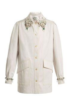 86a6ae624b4c 15 vestes de mi-saison à porter au printemps   Veste en coton ornementée  Josebe