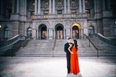 Neha + BJ | Engagement Session at the Library of Congress | Washington DC Wedding Photography