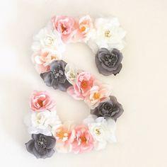 9 Custom Floral Letter by PrettyLttlThings on Etsy