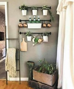 For above Wine Bar❤️ Boho Kitchen, Farmhouse Kitchen Decor, Kitchen Redo, Home Decor Kitchen, Diy Home Decor, Fintorp Ikea, Home Projects, Home Remodeling, Sweet Home