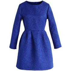 Chicwish Sapphire Blue Floral Jacquard Dress and other apparel, accessories and trends. Browse and shop 8 related looks.