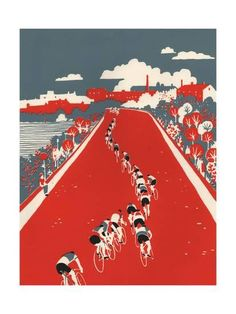 Tour De France Art - Tactics by Eliza Southwood Bicycle Illustration, Illustration Art, Sports Painting, Bike Poster, Bicycle Art, Bicycle Design, Cycling Art, Cycling Quotes, Cycling Jerseys