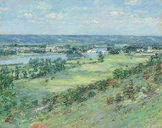 """Celebrate spring w/ Theodore Robinson's """"The Valley of the Seine, from the Hills of Giverny"""" (1892). #FridayFeeling  Natl Gallery of Art (@ngadc)   Twitter"""