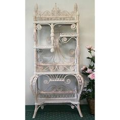 With its intricate floral motifs and displaced shelves, the Yesteryear Wicker Fancy Cabinet will sophisticate the way you display and store your. Modern Home Offices, Living Room Bookcase, Wood Sideboard, Etagere Bookcase, Shabby Chic Kitchen, Shabby Chic Office Decor, Kitchen Decor, Shabby Chic Pink, Wakefield