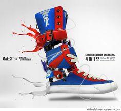Explore the art of Sebastian Thies Body Adornment, Optimus Prime, Barefoot, Transformers, Air Jordans, Slippers, Sneakers Nike, Footwear, Cool Stuff