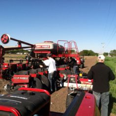 Test plot planting day.