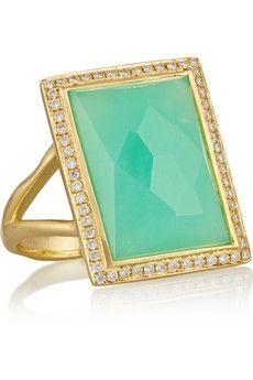Ippolita Rock Candy 18-karat gold, chrysoprase and diamond ring | NET-A-PORTER