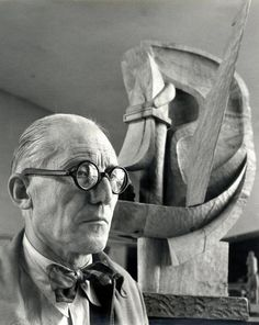 A hundred times have I thought New York is a catastrophe and 50 times: It is a beautiful catastrophe. Le Corbusier by Willy Maywald, Le Corbusier, Henri Matisse, Auguste Herbin, Maurice Utrillo, Famous Architects, Artist At Work, Great Artists, Art History, Paris
