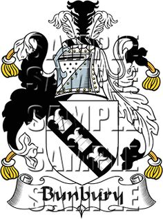 Bunbury Family Crest apparel, Bunbury Coat of Arms gifts
