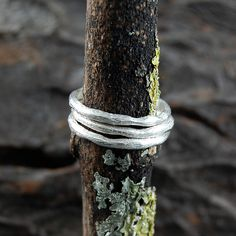 silver textured single stacking band ring by embers | notonthehighstreet.com