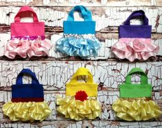 Disney Princess Inspired Ruffle Party Favor Tutu by EterraCouture Favor Bags, Goodie Bags, Treat Bags, Princess Belle Party, Disney Princess, Princess Canvas, Tutu Party, Cinderella Birthday, Ballerina Party