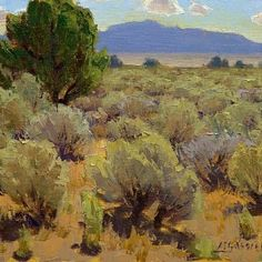 """""""Summer Sage"""" (oil, 8x10) by Jean Legassick, posted by Plein-air Painters of America on Facebook, 9 Jan 2013"""