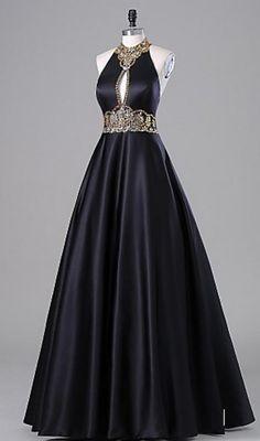 Charming Halter Prom Dress,Long Prom Dresses,Charming Prom Dresses,Evening
