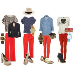 Must. Get. Red. Pants. STAT. I have a J. Crew hat that would be a great accessory.