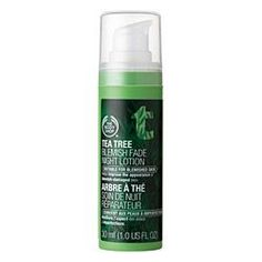 The Body Shop Tea Tree Blemish Fade Lotion $18: Tingles on your skin and works wonders for blemishes! It helps fade scars as well.