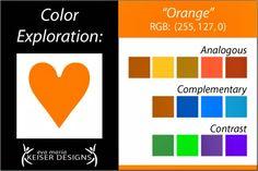 Eva Maria Keiser Designs: Explore Color:  Orange