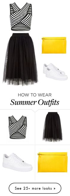 """Collection Of Summer Styles    """"Outift Only #1 : Summer Inspiration"""" by alnajonas on Polyvore featuring Loewe and NIKE    - #Outfits"""
