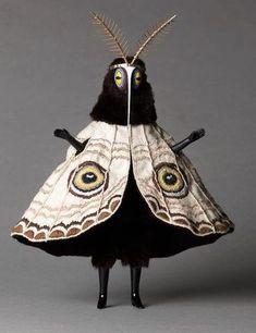 Moth Dress by Cat Johnson Photo credit: Christina Solomons Photographie Post Mortem, Arte Horror, Creature Design, Character Design Inspiration, Wearable Art, Art Inspo, Art Dolls, Art Reference, Character Art