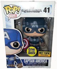 Glow in the Dark Captain America POP Vinyl Edition http://popvinyl.net #popvinyl #funko #funkopop