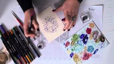 Tip of the Day: Watercolor Wreath from Art Impressions