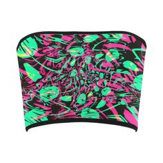 Psychedelic Fractal Bandeau Top by BigTexFunkadelic; perfect for Decadence Arizona, EDC Las Vegas, Ultra Music Festival, Electric Zoo, and more. Cyberpunk Fashion, Emo Fashion, Gothic Fashion, Festival Outfits, Festival Fashion, Gothic Girls, Punk Girls, Pastel Tops, Raver Girl