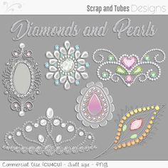 """💎 DIAMONDS and PEARLS 2 by Scrap and Tubes Designs 💎 Put a touch of """"bling bling"""" in your digital scrapbooking/card projects with these 7 beautiful jewels that I created for you! 💎 Format: png • Sizes between 1676X1978 & 2338X1789 (300dpi) • Commercial use / CU4CU allowed 💎 The Digital ScrapBook Shop >> http://bit.ly/2lr9KHJ --- Scrap and Tubes Store >> http://bit.ly/1Sf6GnC"""