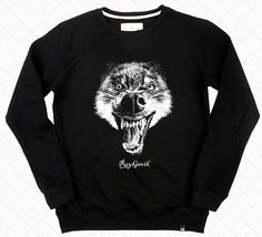 Wolf Sweatshirt Crewneck Sweatshirts for Men DRIFT OUT 041