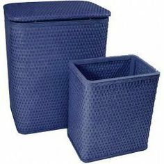 """Chelsea Collection Hamper And Matching Wastebasket Set Coastal Blue by Redmon. $87.30. Hand crafted for quality and durability. Hamper Dimensions; 18.5""""L x 10.25""""W x 24.25""""H.. Chelsea Collection Hamper And Matching Wastebasket Set Coastal Blue. Wastebasket Dimensions: 9""""L x 9""""W x 11""""H.. Made in the USA of quality materials and craftsmanship. Chelsea Collection Hamper and Matching Wastebasket Set is hand crafted and made in the USA of quality materials and craftsmanship. Made o..."""