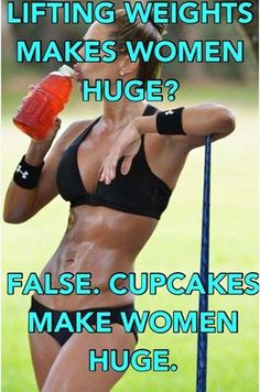 Thought this was kinda cute. But this is by no means a diss. Girl, if you like cupcakes, eat yo cupcakes! While we are responsible for our bodies and heavily influence how it looks, we have to believe even still that we are beautiful. Always. Even if your body doesn't quite look the way you want. Never forget!