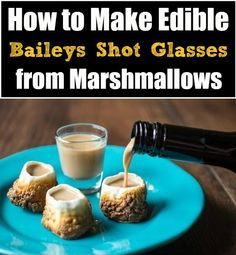 WOW - How to Make Edible Baileys Shot Glasses from Marshmallows