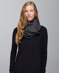 vinyasa scarf worn 10 ways from lululemon. Lulu Love, Circle Scarf, Headbands For Women, Athletic Outfits, Clothes Horse, Herringbone, Lululemon, My Style, Sweaters
