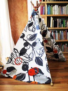 DIY Teepee made with Ikea fabric