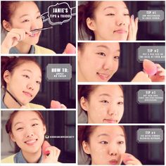 How to apply BB cream and get natural coverage using a beauty blender. Watch the full video ^____^