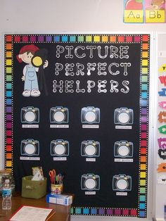 Close Up of Picture Perfect Helpers: cute for a Hollywood theme