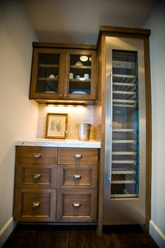 Office Cabinets - Butler's pantry with Gaggenau wine unit. (Cultivate.com) #cultivateit