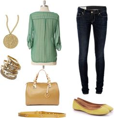 Sunday - Yellow Flats, created by vigolia on Polyvore