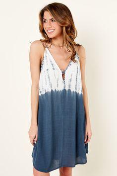 Cool Tie Dye Dress - Spaghetti Strap Dress - Die Dye Dress - $42.00