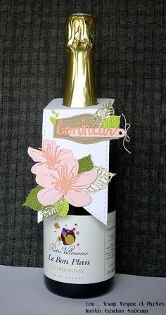 """Eva : Tampons et matrices de coupe (dies) #4enSCRAP """"Déco de bouteille #2"""""""